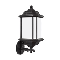 Sea Gull Lighting Kent 1 Light Outdoor Wall Lantern in Oxford Bronze with Satin Etched Glass 84532BLE-746