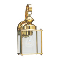 Sea Gull Lighting Jamestowne 1 Light Outdoor Wall Lantern in Polished Brass 8457-02 photo thumbnail
