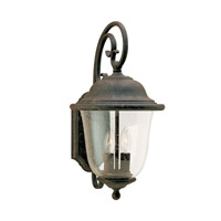 Trafalgar 2 Light 18 inch Oxidized Bronze Outdoor Wall Lantern