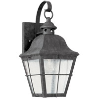 Sea Gull 8462-46 Chatham 1 Light 14 inch Oxidized Bronze Outdoor Wall Lantern in Clear Seeded Glass