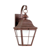 Sea Gull 8462DEN3-44 Chatham 1 Light 15 inch Weathered Copper Outdoor Wall Lantern