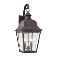 Sea Gull 8463-46 Chatham 2 Light 21 inch Oxidized Bronze Outdoor Wall Lantern in Clear Seeded Glass