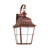 Sea Gull 8463DEN3-44 Chatham 1 Light 21 inch Weathered Copper Outdoor Wall Lantern photo thumbnail