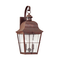 Chatham 2 Light 21 inch Silver Outdoor Wall Lantern
