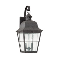 Chatham 2 Light 21 inch Oxidized Bronze Outdoor Wall Lantern