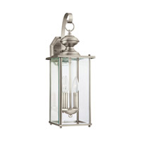 Jamestowne 2 Light 20 inch Antique Brushed Nickel Outdoor Wall Lantern