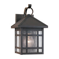 Sea Gull Lighting Largo 1 Light Outdoor Wall Lantern in Antique Bronze 85008-71