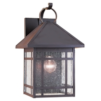 Largo 1 Light 16 inch Antique Bronze Outdoor Wall Lantern