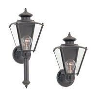 Sea Gull Lighting New Castle 1 Light Outdoor Wall Lantern in Black 8504-12