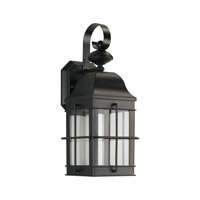 Sea Gull Signature LED Outdoor Wall Lantern in Black 8505891S-12