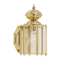 Classico 1 Light 11 inch Polished Brass Outdoor Wall Lantern