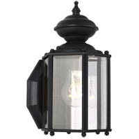 Sea Gull 8507-12 Classico 1 Light 11 inch Black Outdoor Wall Lantern