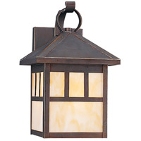 Sea Gull Lighting Prairie Statement 1 Light Outdoor Wall Lantern in Antique Bronze 8508-71