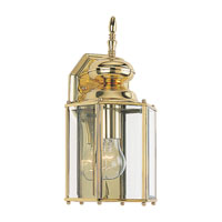 Sea Gull Lighting Classico 1 Light Outdoor Wall Lantern in Polished Brass 8509-02