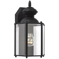 Sea Gull 8509-12 Classico 1 Light 12 inch Black Outdoor Wall Lantern photo thumbnail