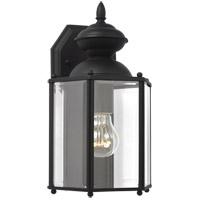 Sea Gull 8509-12 Classico 1 Light 12 inch Black Outdoor Wall Lantern