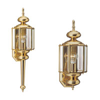 Sea Gull Lighting Classico 1 Light Outdoor Wall Lantern in Polished Brass 8510-02