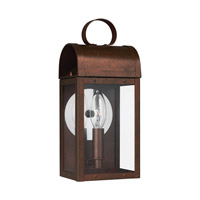 Conroe 1 Light 12 inch Weathered Copper Outdoor Wall Lantern