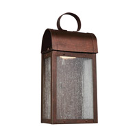 Conroe LED 12 inch Weathered Copper Outdoor Wall Lantern