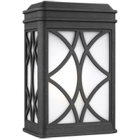 Sea Gull 8519601-12 Melito 1 Light 9 inch Black Outdoor Wall Lantern