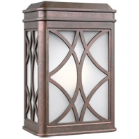 Sea Gull 8519601-44 Melito 1 Light 9 inch Weathered Copper Outdoor Wall Lantern