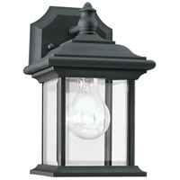 Sea Gull 85200-12 Wynfield 1 Light 10 inch Black Outdoor Wall Lantern