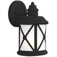 Sea Gull Lakeview 1 Light Outdoor Wall Sconce in Black 8521401BLE-12