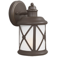 Sea Gull Lakeview 1 Light Outdoor Wall Sconce in Antique Bronze 8521401BLE-71