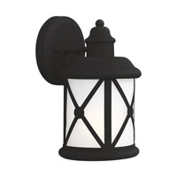 Lakeview 1 Light 10 inch Black Outdoor Wall Lantern