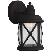 Sea Gull Lakeview LED Outdoor Wall Sconce in Black 8521492S-12