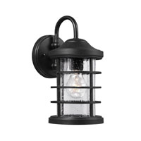 Sea Gull Sauganash 1 Light Wall Lantern in Black 8524401-12