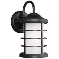 Sea Gull 8524451DEN3-12 Sauganash 1 Light 12 inch Black Outdoor Wall Lantern
