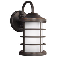 Sea Gull 8524451DEN3-71 Sauganash 1 Light 12 inch Antique Bronze Outdoor Wall Lantern