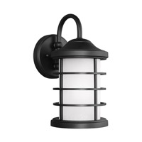 Sea Gull 8524451EN3-12 Sauganash 1 Light 12 inch Black Outdoor Wall Lantern