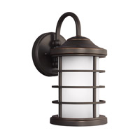 Sea Gull 8524451EN3-71 Sauganash 1 Light 12 inch Antique Bronze Outdoor Wall Lantern