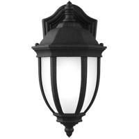 Sea Gull 8529301-12 Galvyn 1 Light 12 inch Black Outdoor Wall Lantern