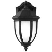 Sea Gull 8529301-12 Galvyn 1 Light 12 inch Black Outdoor Wall Lantern