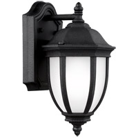 Sea Gull 8529301EN3-12 Galvyn 1 Light 12 inch Black Outdoor Wall Lantern