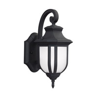 Sea Gull 8536391S-12 Childress LED 13 inch Black Outdoor Wall Lantern