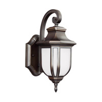 Childress LED 13 inch Antique Bronze Outdoor Wall Lantern