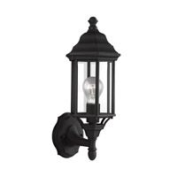 Sea Gull 8538701-12 Sevier 1 Light 16 inch Black Outdoor Wall Lantern