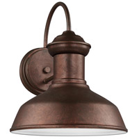 Sea Gull 8547701-44 Fredricksburg 1 Light 12 inch Weathered Copper Outdoor Wall Lantern
