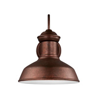 Sea Gull 8547701EN3-44 Fredricksburg 1 Light 12 inch Weathered Copper Outdoor Wall Lantern