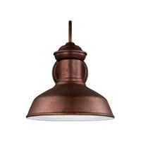 Sea Gull 8547701EN3-44 Fredricksburg 1 Light 12 inch Weathered Copper Outdoor Wall Lantern