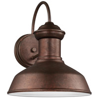 Sea Gull 8547793S-44 Fredricksburg LED 12 inch Weathered Copper Outdoor Wall Lantern photo thumbnail