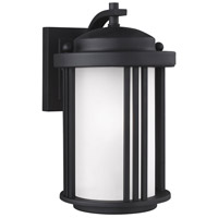 Sea Gull 8547901DEN3-12 Crowell 1 Light 10 inch Black Outdoor Wall Lantern