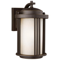 Sea Gull 8547901DEN3-71 Crowell 1 Light 10 inch Antique Bronze Outdoor Wall Lantern
