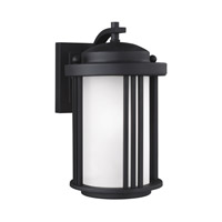 Sea Gull 8547901EN3-12 Crowell 1 Light 10 inch Black Outdoor Wall Lantern