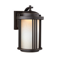 Crowell LED 10 inch Antique Bronze Outdoor Wall Lantern in Darksky Compliant