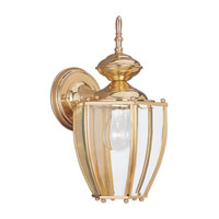 Sea Gull Lighting Society Hill 1 Light Outdoor Wall Lantern in Polished Brass 8580-02 photo thumbnail